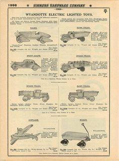 1935 Advert Buffalo Toy Bullet Car Electric Light Coupe Wyandotte Racer Truck | eBay