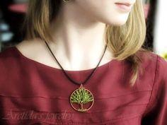 Jewelry tutorial Tree of Life necklace tutorial - DIY wire wrapped pendant tutorial beaded pattern PDF yellow orange autumn fashion fall oht. $7.00, via Etsy.