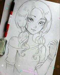 Image result for anime drawings girl profecional