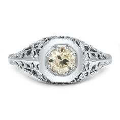 18K White Gold The Jennefer Ring from Brilliant Earth