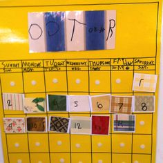 A child's writing calendar!