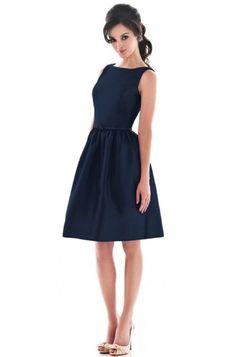 Blue Simple Bateau Neck Short Bridesmaid Dress G133 #celeb16 #bridesmaiddresses