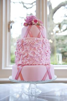 ballet cake...love that the cake ribbons look like pointe shoe lacing