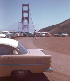 Golden Gate Bridge San Francisco 1950s Kodachrome by Chalmers Butterfield
