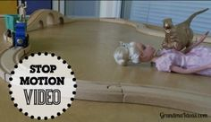 Making stop motions videos can keep kids busy and happy for a long time.