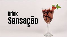 Aprenda a fazer o Drink Sensação. Receita completa no site. Cocktail Drinks, Alcoholic Drinks, Cocktails, Wine Glass, Food And Drink, Make It Yourself, Cappuccinos, Tableware, Happy Hour