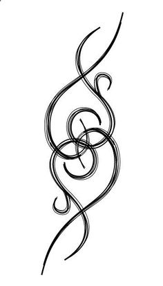 Cool way to do an infinity symbol a little differently,, like this for a tattoo.