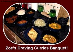 Zoe has made a craving Curries Banquet of delights! Indian Curry, Curries, Palak Paneer, Banquet, Photo Editor, Cravings, Dishes, Ethnic Recipes, How To Make