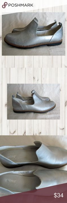 MTNG Silver Leather Outer & Insole Slip On Loafer MTNG, Silver, Leather Outer & Insole, Slip On Loafer, Rubber slip resistant sole, Size 40, US Size 10 NEW  Smoke and pet free  (S__) MTNG Shoes Flats & Loafers