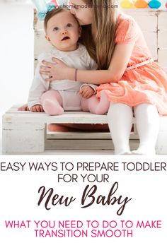 How to prepare your toddler for a new baby. Tips to make the transition smoother and help your toddler avoid sibling jelousy. Second Pregnancy, Second Baby, Gentle Parenting, Kids And Parenting, Advice For New Moms, Mom Advice, New Big Brother, Baby Registry Must Haves, Sick Baby