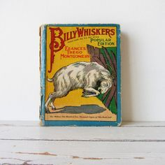 Vintage Antique Billy Whiskers Childrens Book by TintedVintage, $25.00