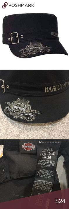 Harley Davidson Black/Silver Studded Painters Cap Harley Davidson Black/Silver Studded Painters Cap NWT Harley-Davidson Accessories Hats