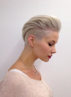 Naughty Pixie hairstyles for ladies. 30 Ideas Naughty Pixie hairstyles for ladies. 30 Ideas Short haircuts for women are more fashionable than ever, and in this post we present you some cheeky short hairstyles that are a total hit in Pixie Haircuts Short Hair Cuts For Women, Short Hairstyles For Women, Straight Hairstyles, Short Hair Styles, Short Haircuts, One Side Shaved Hairstyles, Mohawk Styles, Blonde Hairstyles, Braid Styles