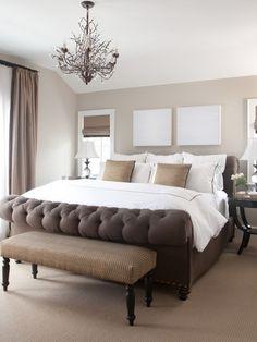 Master Bedroom - Love the blank canvas art