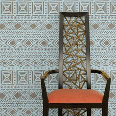 Tribal Vibe Allover Wall Stencil from Royal Design Studio