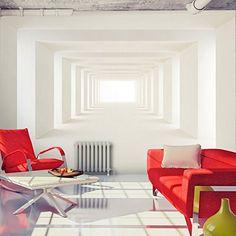 Fotomural decorativo de túnel blanco con profundidad - http://vinilos.info/producto/fotomural-decorativo-de-tunel-blanco-con-profundidad/ Foto mural con profundidad Fácil de instalar   #Recibidor, #Salón   #decoracion