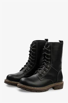 Martin High Top Boots In Matte Black