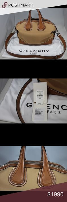 Givenchy Small Nightingale Taupe Canvas Brand New Brand New with Tags Givenchy Nightingale. This was purchased at Neimans. This is the perfect sping summer bag. My favorite style from Givenchy. This is a bag that you can pass down.  Gorgeous Bag Givenchy Bags Satchels