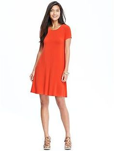 Womens Jersey Swing Dress - love this color and the loose fit of this dress