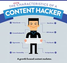The many characteristics of a content hacker. #GrowthHacking