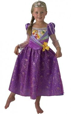 Let down your beautiful long hair in this girls Rapunzel costume.  Shop this costume on our website   #Disney #Disneyprincess #costume http://www.heavencostumes.com.au/girls-princess-rapunzel-shimmer-costume.html