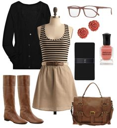 Pretty khaki & blk with a touch of pink