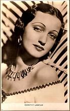 Vintage Post Card Real Photo Hollywood Actress Dorthy Lamour
