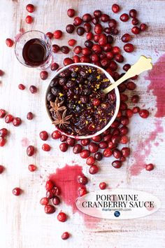 Port Wine Cranberry Sauce: Homemade cranberry sauce is the only way to go for the holidays. It only takes minutes to make & tastes way better than anything canned. The Port wine makes this an extra celebratory sauce.