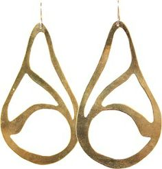 iSanctuary - Handmade by Survivors of Human Trafficking - Brass Drop Big Earrings