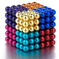 PROLOSO Buckyballs Magnetic Ball Sculpture Toys for Intelligence Development and Stress Relief (5MM Set of 216 Balls), 6/8 Colors Diy Bow, Diy Ribbon, Cute Night Lights, Cool Fidget Toys, Magnetic Toys, Shape Games, Kids Blocks, Lego Craft, Back Neck Designs