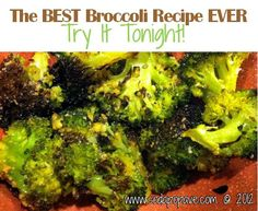 The BEST roasted broccoli recipe ever. I used to make broccoli a different way until I found this recipe!