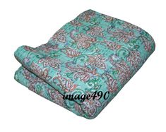 Green Floral Kantha Bedspread Qeen Size Floral New Indian Kantha Bed cover , Kantha sofa Cover, Kantha Quilt Kantha Throw, Kantha Blanket Cotton Blankets, Cotton Quilts, Bohemian Bedspread, Quilted Bedspreads, Kantha Quilt, Quilt Bedding, Sofa Covers, Bed Spreads, Baby Quilts