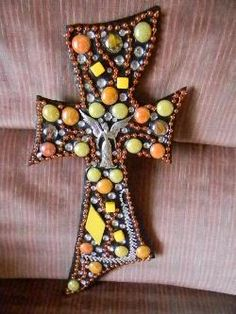 decorative Wooden Crosses  | charmed wood crosses decorative wood crosses with charms like angels ...