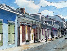 John Boles   WATERCOLOR              French Quarter Street