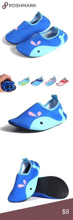 NEW Shoes for Water for Kids Toddlers Boys/Girls ✅New ✅Navy blue/light blue ✅Shoes for Water for Kids Toddlers  ✅Boys/Girls Aqua Socks Barefoot  ✅good for Beach, Pool,Lawn Swimming ✅Walking Soft Lightweight  ✅Cute Rabbit Cat Whale Shoes Water Shoes