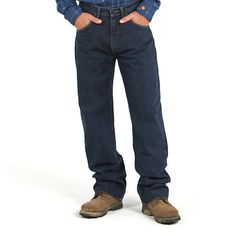 Wrangler Men's 20X FR Flame Resistant Ext Relax Fit Jeans (Size: