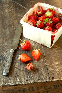 real fresh picked strawberries.