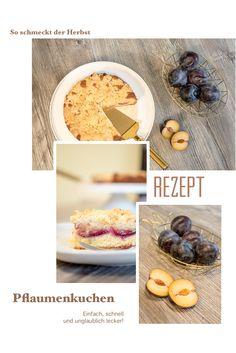 Herbstzeit ist Pflaumenzeit! Hier gibt es das Rezept für einen leckeren Pflaumenkuchen mit Streuseln - schnell und einfach zubereitet und unfassbar lecker...  #pflaumenkuchen #rezept