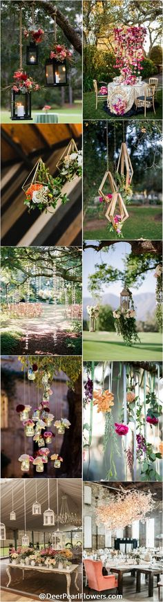 unique wedding ideas - hanging wedding ideas and themes / http://www.deerpearlflowers.com/hanging-wedding-decor-ideas/