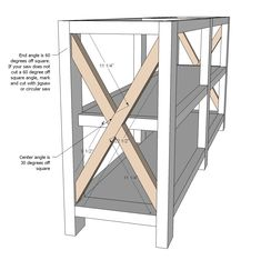 Ana White Build a Rustic X Console Free and Easy DIY Project and Furniture Plans Diy Furniture Plans, Farmhouse Furniture, Woodworking Furniture, Furniture Projects, Rustic Furniture, Home Furniture, Furniture Design, Antique Furniture, Plywood Furniture
