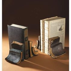 old books book ends ... I need these for my pile on my dresser. @Rich