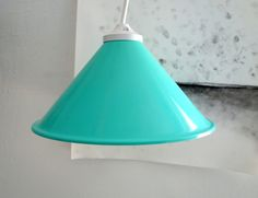 Industrial  Mint lamp shade Factory Pendant Lights by JorRainbow