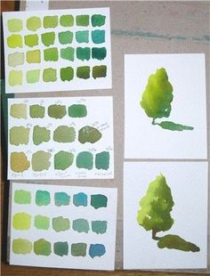 warm-cool-green-watercolor-creative-color-exercise-3-01