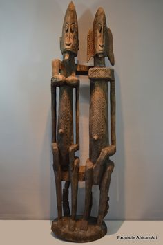 Dogon Primordial Couple Statue - Exquisite African Art