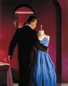 """Altar of Memory"" -- by Jack Vettriano (b.1951, Scottish)"