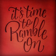 """""""It's time to Ramble On"""" (Ramble On - Led Zeppelin); See more on: be.net/marianerodrigues"""