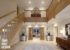 Tony Holt Design_Self Build_New Build_Maple Stairs Architecture, Architecture Design, Barn Conversion Interiors, Self Build Houses, Staircase Design, Staircase Ideas, House Entrance, Patio, Luxury Homes