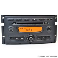 Ein SMART FORTWO FOR TWO CD Radio A4518202879 / 002 Car Stereo Autoradio CD Player!