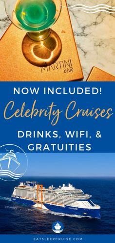 Guide to Celebrity Cruises Always Included Package (2021) | We explain everything you need to know about the new Celebrity Cruises Always Included package to help determine if you should upgrade. This plan now includes free cruise drinks, cruise tips, and WiFi. Cruise Tips, Packing List For Cruise, Cruise Travel, Cruise Vacation, Cruise Checklist, Cruise Excursions, Cruise Destinations, Shore Excursions, Cruise Reviews