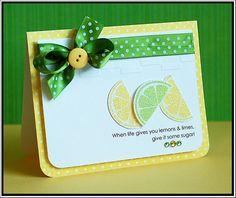 Themed invite idea: Lemons & limes...